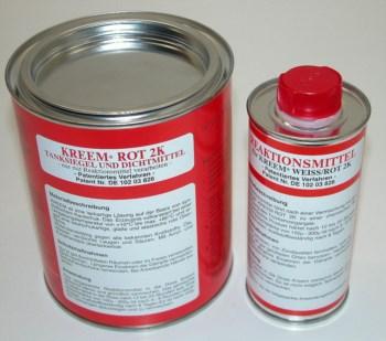 Tanksiegel und Reaktionsmittel KREEM® ROT 1300g