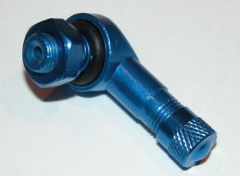 Winkelventil blau eloxiert  8,3mm