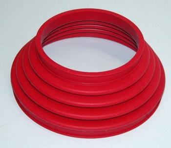 Faltenbalg 2-Ventil Paraleverschwinge hinten rot