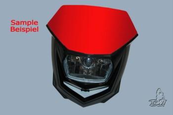 Lichtmaske - Lampenmaske  Enduro  uni rot