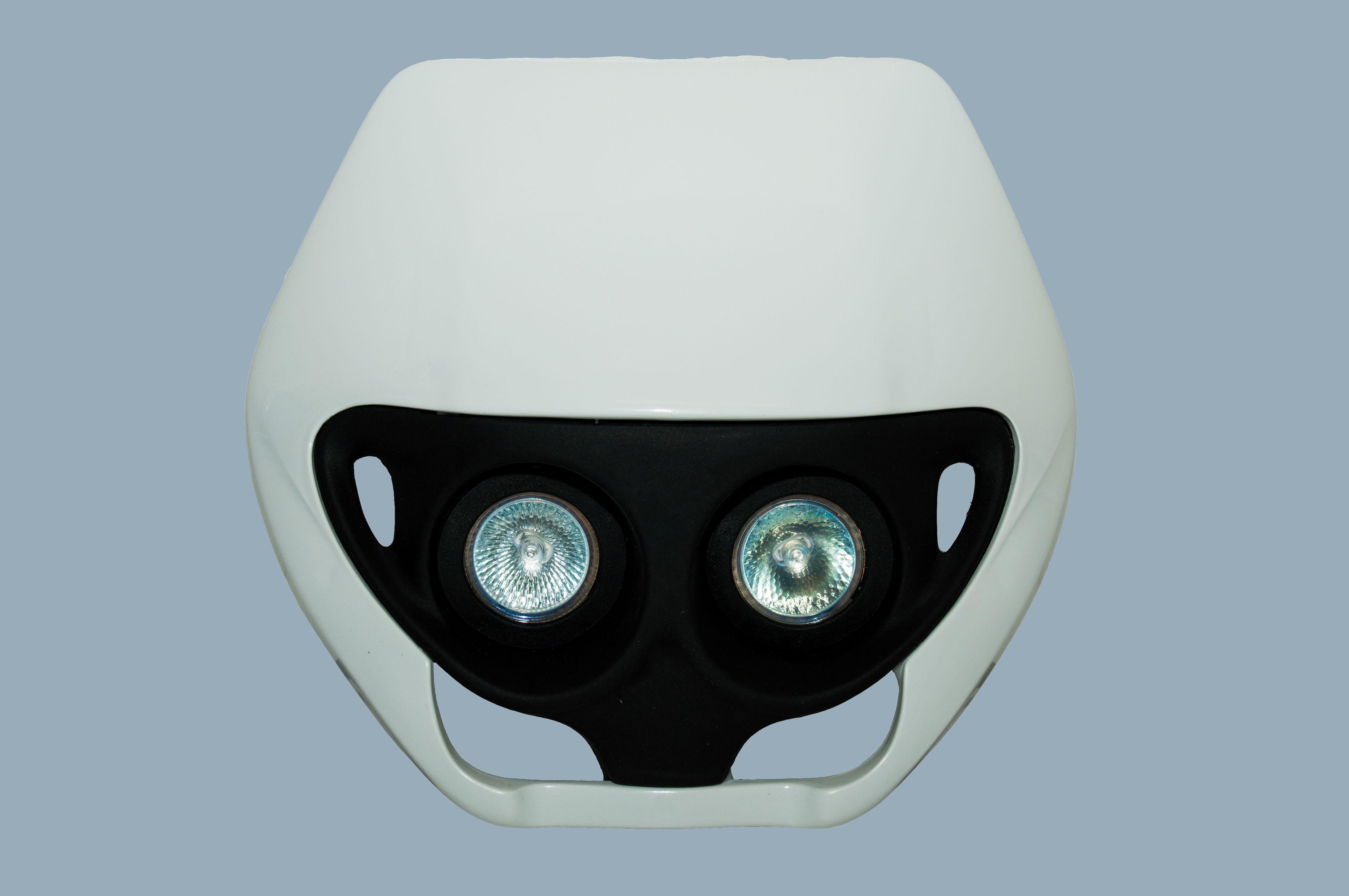Lichtmaske UFO TWINS uni. weiß  OHNE E-Prüfung