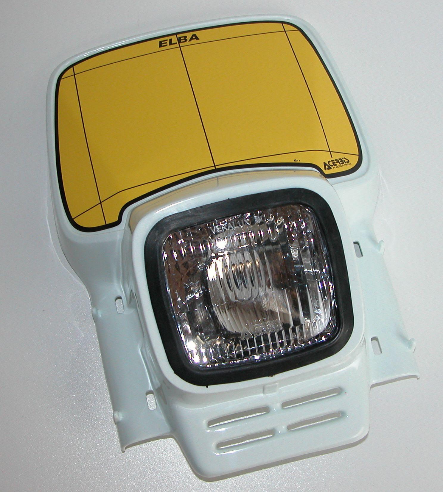 Lampenmaske ACERBIS Elba Retro - Vintage uni weiß
