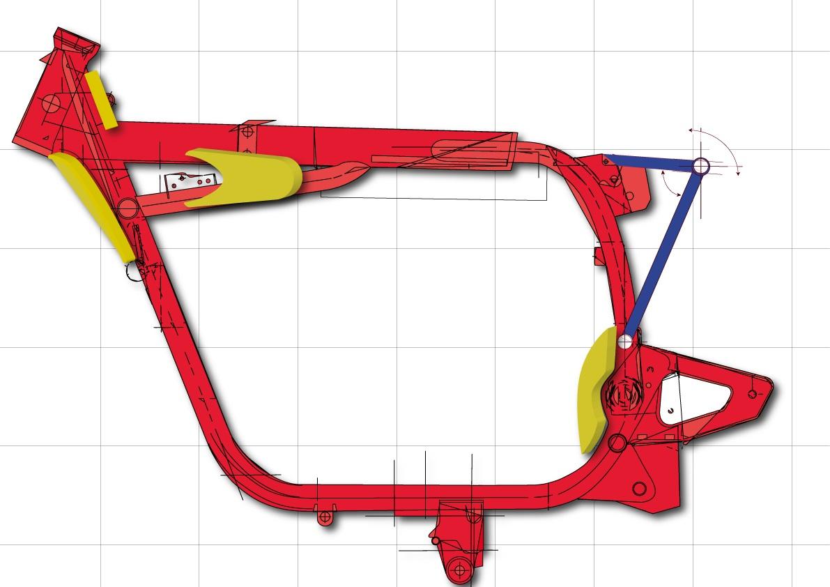 Rahmenverstärkung BMW mit Schwingenumbau
