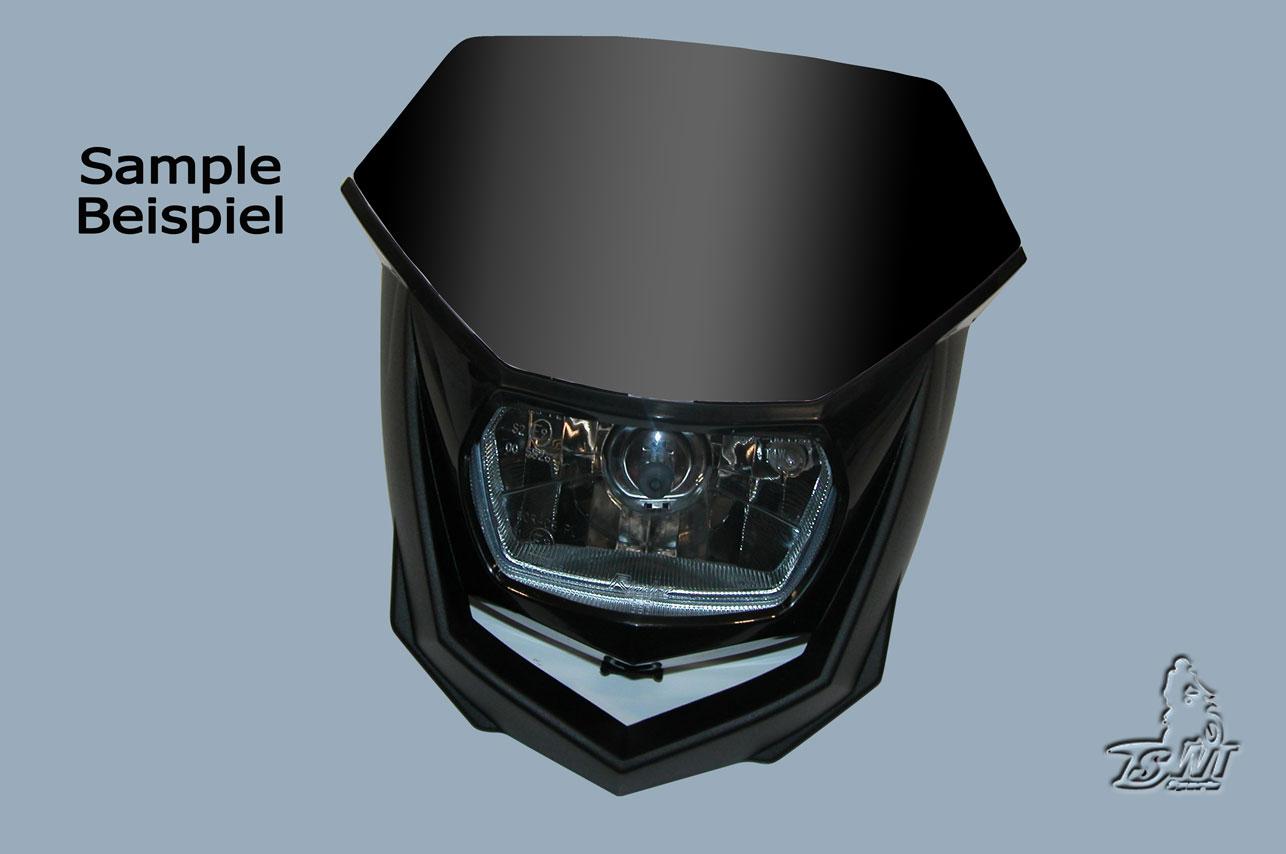 Lichtmaske - Lampenmaske  Enduro uni schwarz