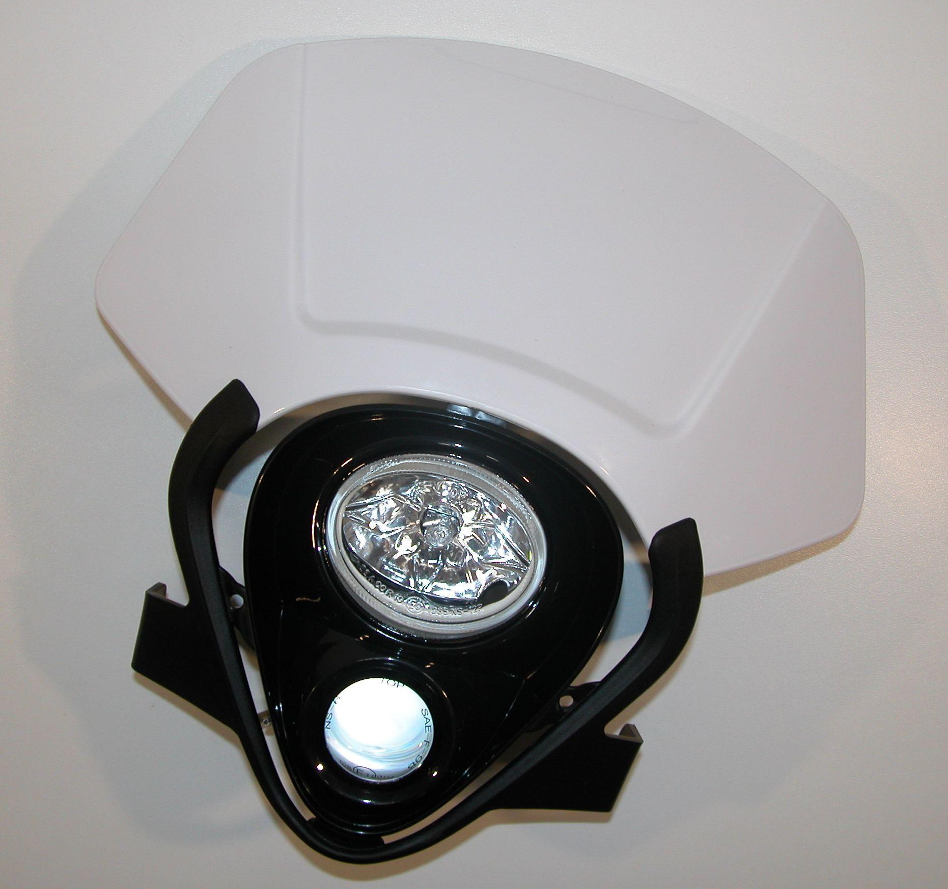 Lichtmaske - Lampenmaske  Duo uni weiß