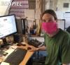 Mundmaske - Gesichtsmaske - Mundbedeckung PINK
