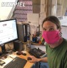 Mundmaske - Gesichtsmaske - Mundbedeckung LILA