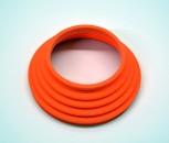 Faltenbalg 2-Ventil Paraleverschwinge hinten orange