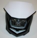 Lichtmaske - Lampenmaske  Enduro  uni weiß